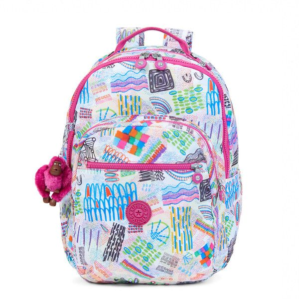 Kipling Seoul Large Printed Laptop Backpack (400 BRL) liked on Polyvore featuring bags ...