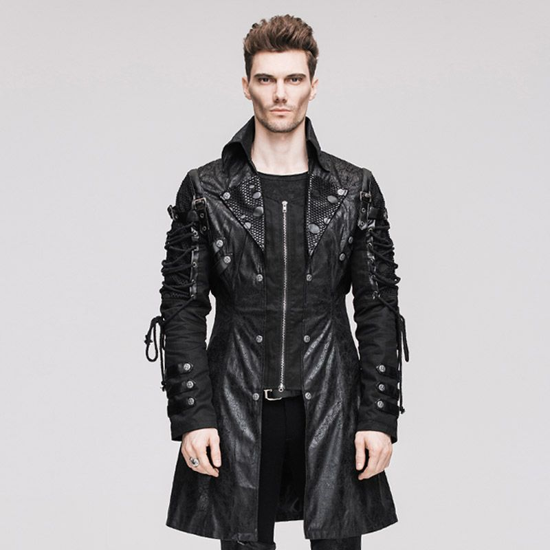 Punk Rock Men Faux Leather Motorcycle Jackets Cool Garage ...