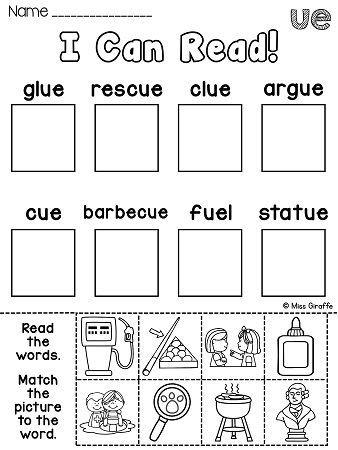 Ew Ue Ui Worksheets  Activities No Prep  Worksheets Phonics