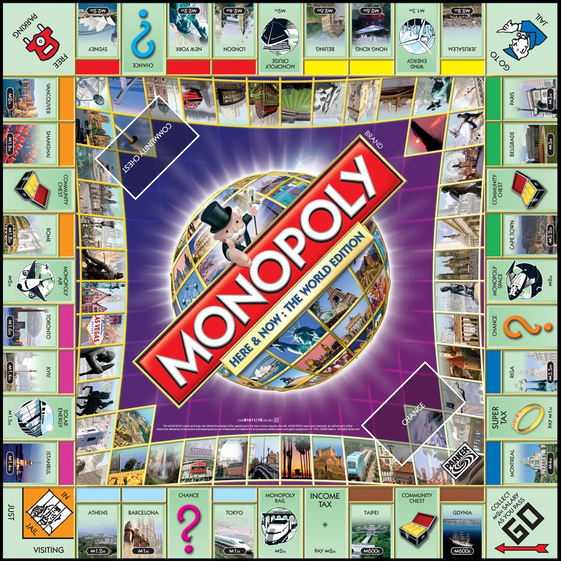 Monopoly Game Board | Technology and Numismatics | Monopoly | Pinterest