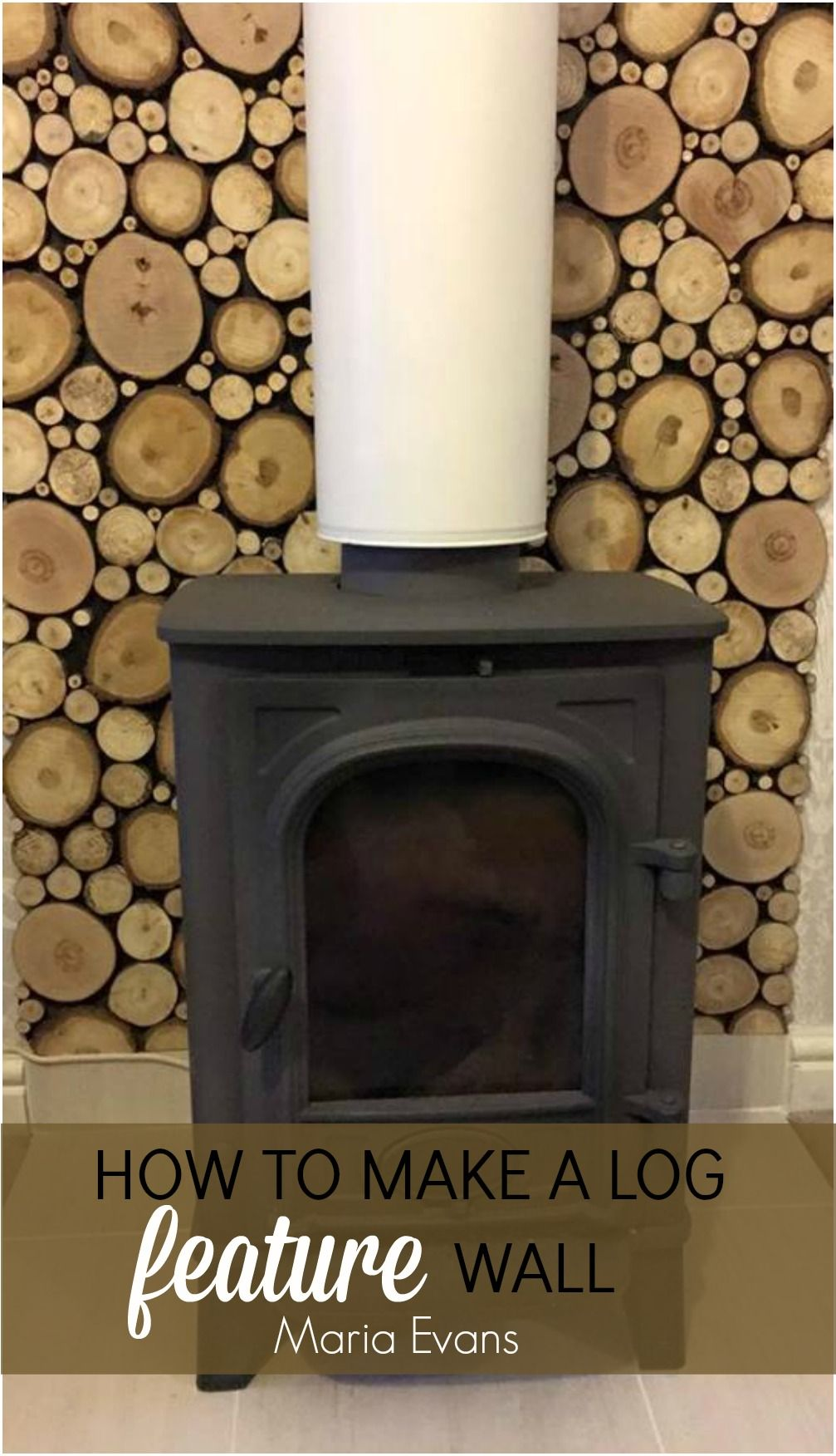 Mariaus log feature wall log burner logs and walls