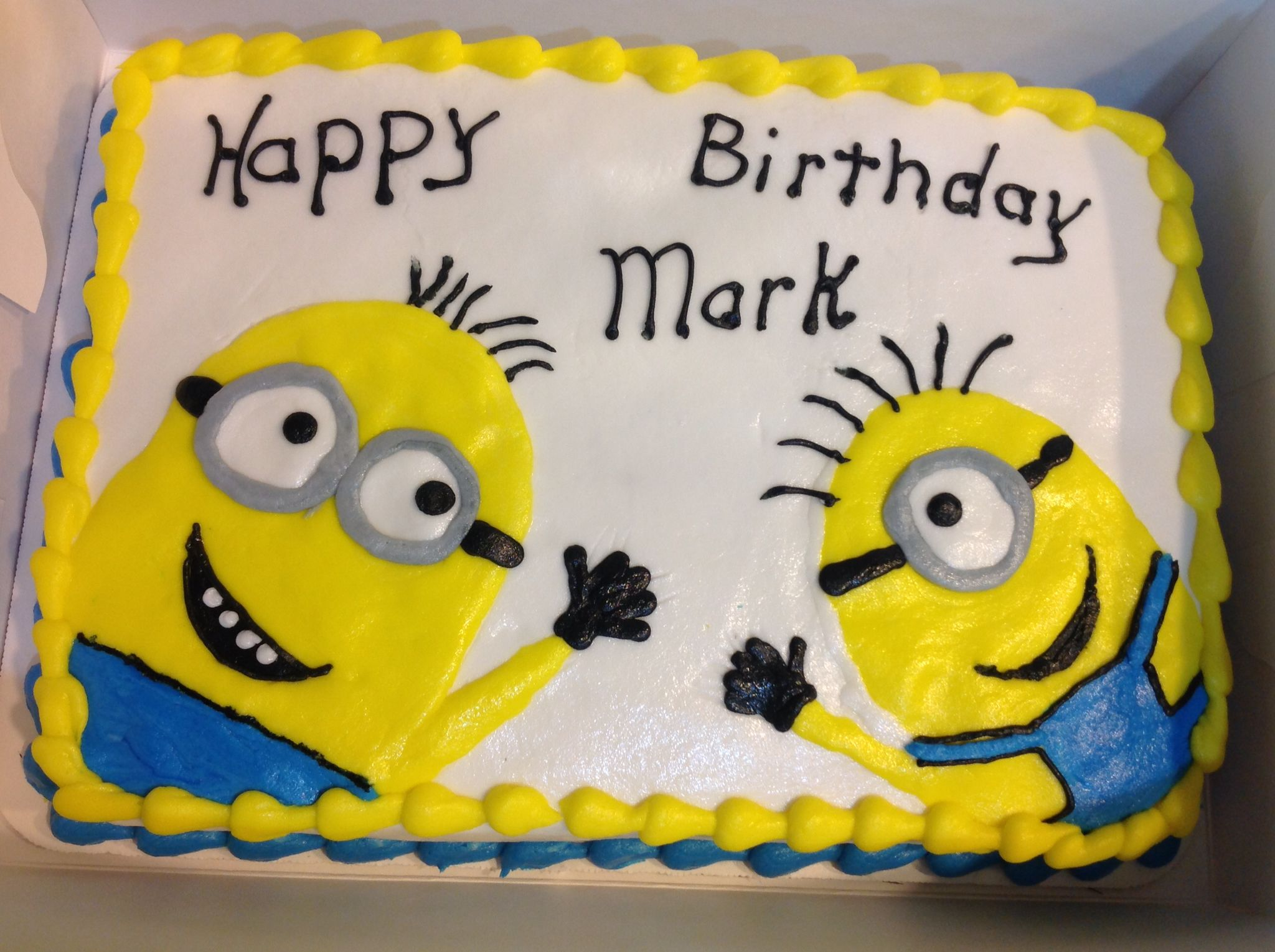 Birthday Cake Images Minions ~ Minions sheet birthday cake cakes i made birthday