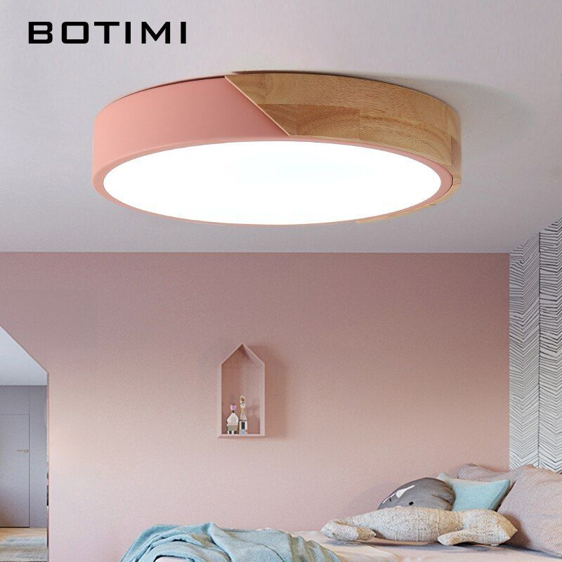 Botimi 220v Led Ceiling Lights Nordic Style Round Ceiling Mounted