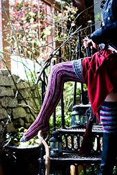 Ravelry: The Amplitude Vertical Striped Stockings pattern by Amanda M. Williams
