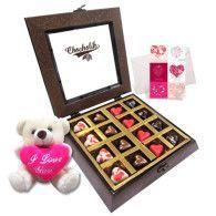 12pc Heart Lovable Chocolate