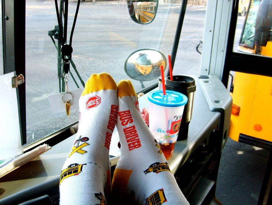 bus driver feet