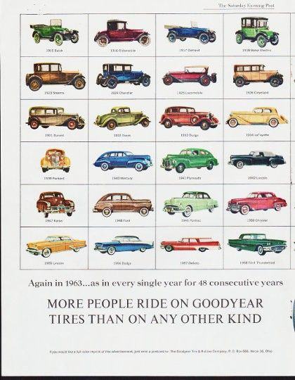 1963 Goodyear Tires Ad