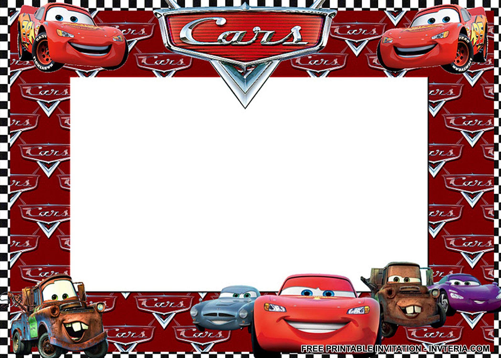 NICE BEST FREE PRINTABLE DISNEY CARS BIRTHDAY INVITATIONS IDEA ...