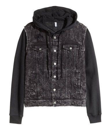 526e69005d84 Hooded denim jacket