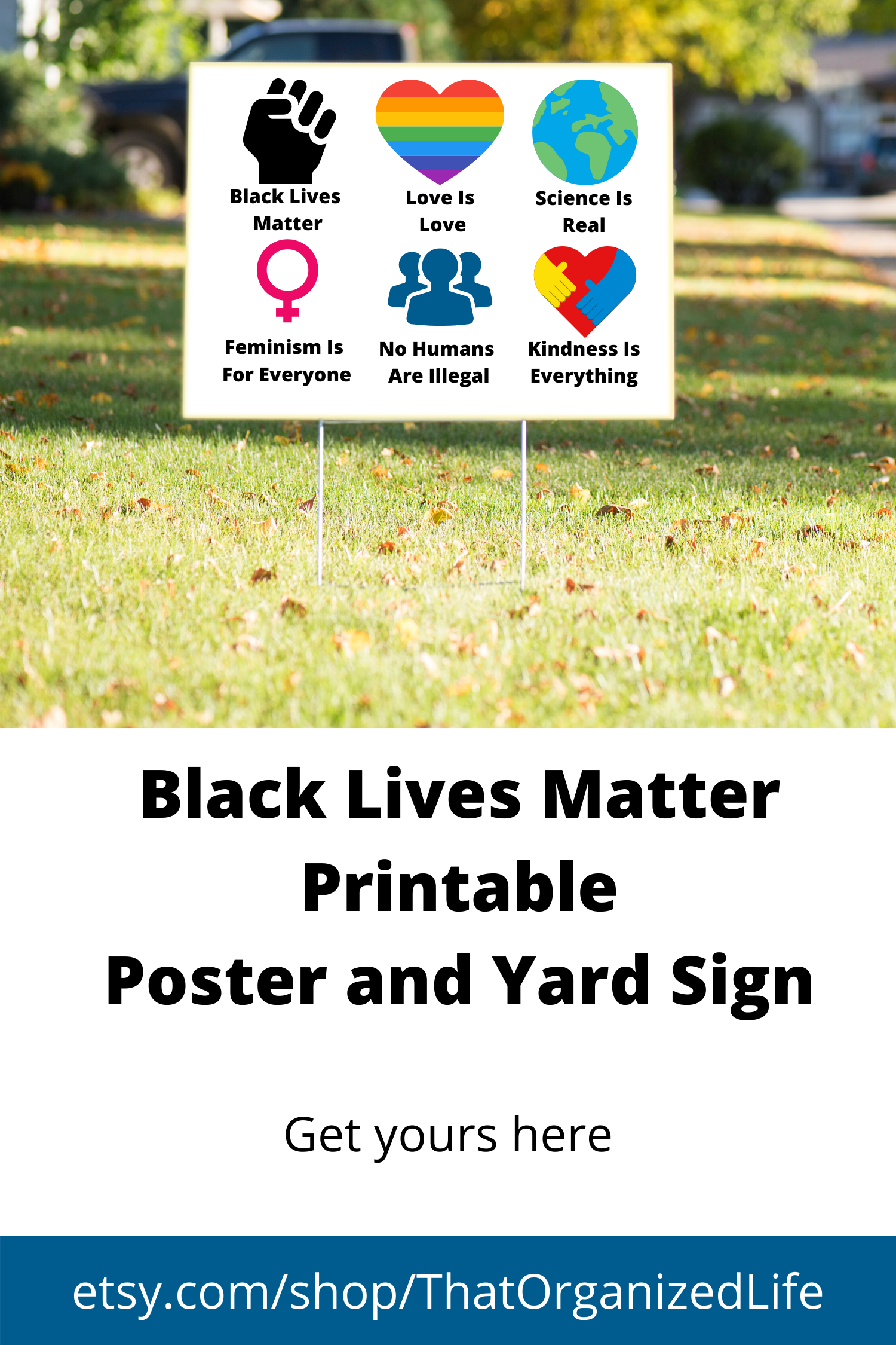 Black Lives Matter Yard Sign Black Lives Matter Lives Matter Black Lives