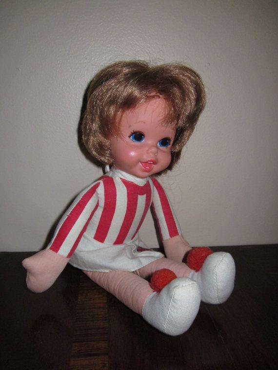 Cornhusker cheerleader doll | Talking Nebraska Cheerleader 1970 Mattel Doll by WhatsOnTheShelf