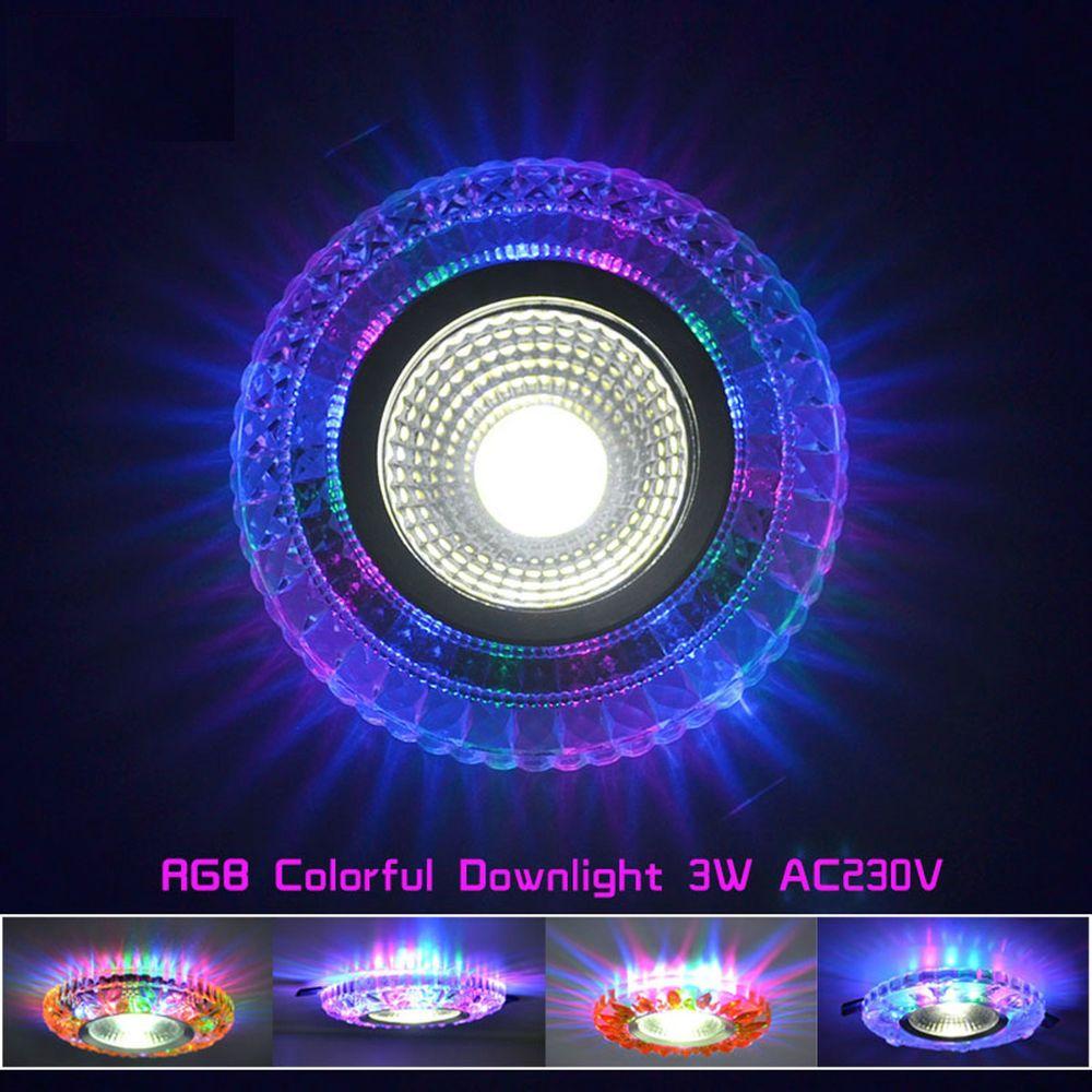 Led Colorful Downlight Cob Ac100 230v 3w Led Ceiling Downlight Rainbow Rgb Lamp Teetealy Downlights Light Magic Led Ceiling