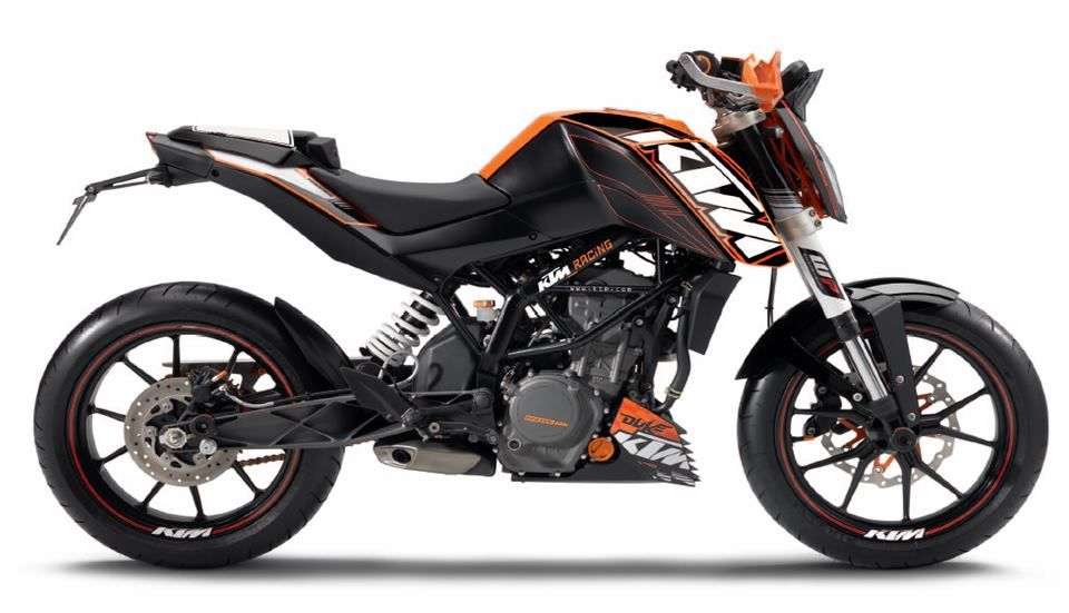 Ktm 200 duke stickers