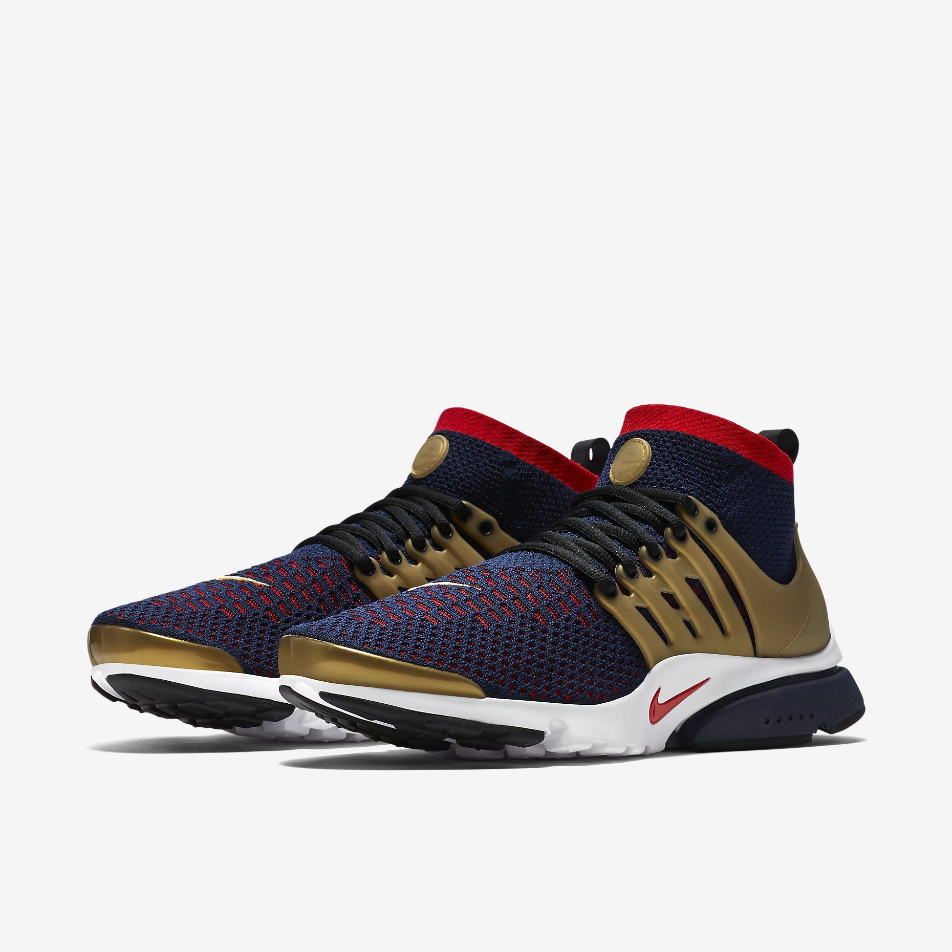 Nike Air Presto Ultra Flyknit (College Navy/Metallic Gold/White/Comet Red
