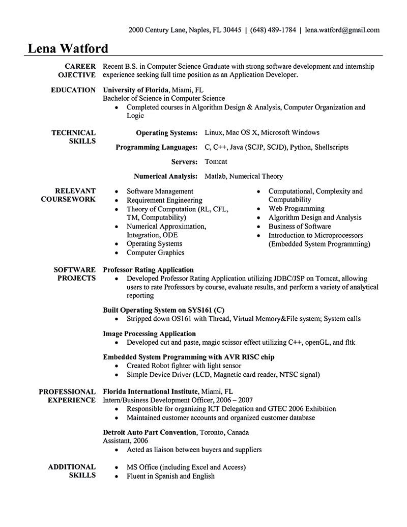 Software Engineering Resume Software Developer Resume Includes The Skills Abilities And