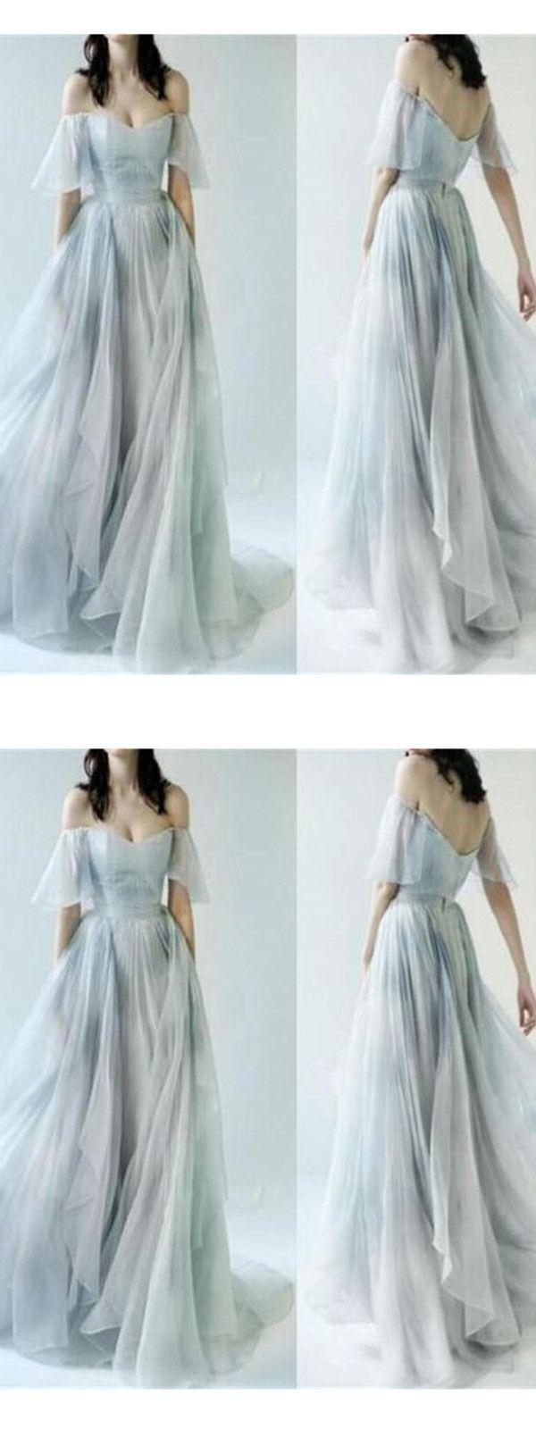 aa6edfb9050 Chic A Line Prom Dress Modest Elegant Cheap Long Prom Dress  VB2021 ...