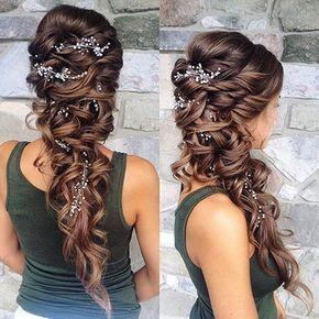 Pelo de novia Pelo de la boda Hairyles Long #Brauthaar #Hairyles #Varios abiertos #High