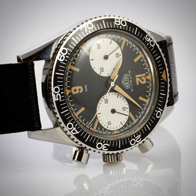 Perfection exists. Autavia ref.3646 from 1962. #heuer # ...