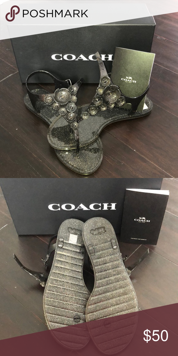 ab9616766150 Coach Sandals Brand New Coach Sandals - just a bit too small but so  adorable! Coach Shoes Sandals