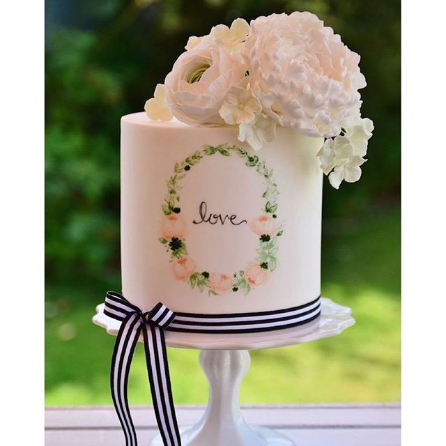 Water color painted cake? #YesPlease #thenewportbride #newport #newportwedding #newportri #bride #weddingplanning #love #forever #marriage #photography #blog #rhodeislandwedding #marriedinnewport #newportbrideblog  #ImaNewportBride #married #engaged #yum
