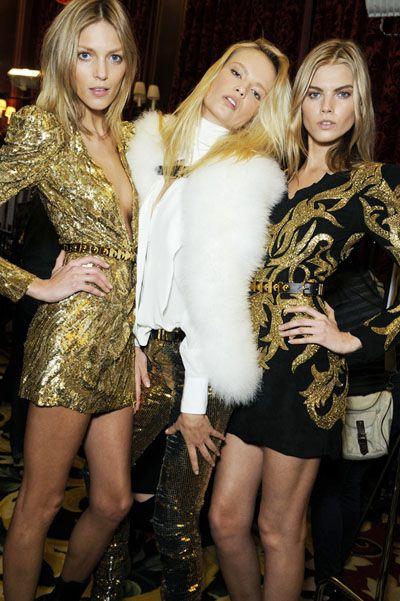 models backstage at Balmain
