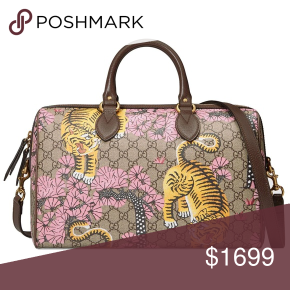 68b22a4b00a4 Spotted while shopping on Poshmark: 100% Auth NEW Gucci GG Supreme Bengal  Boston Bag! #poshmark #fashion #shopping #style #Gucci #Handbags