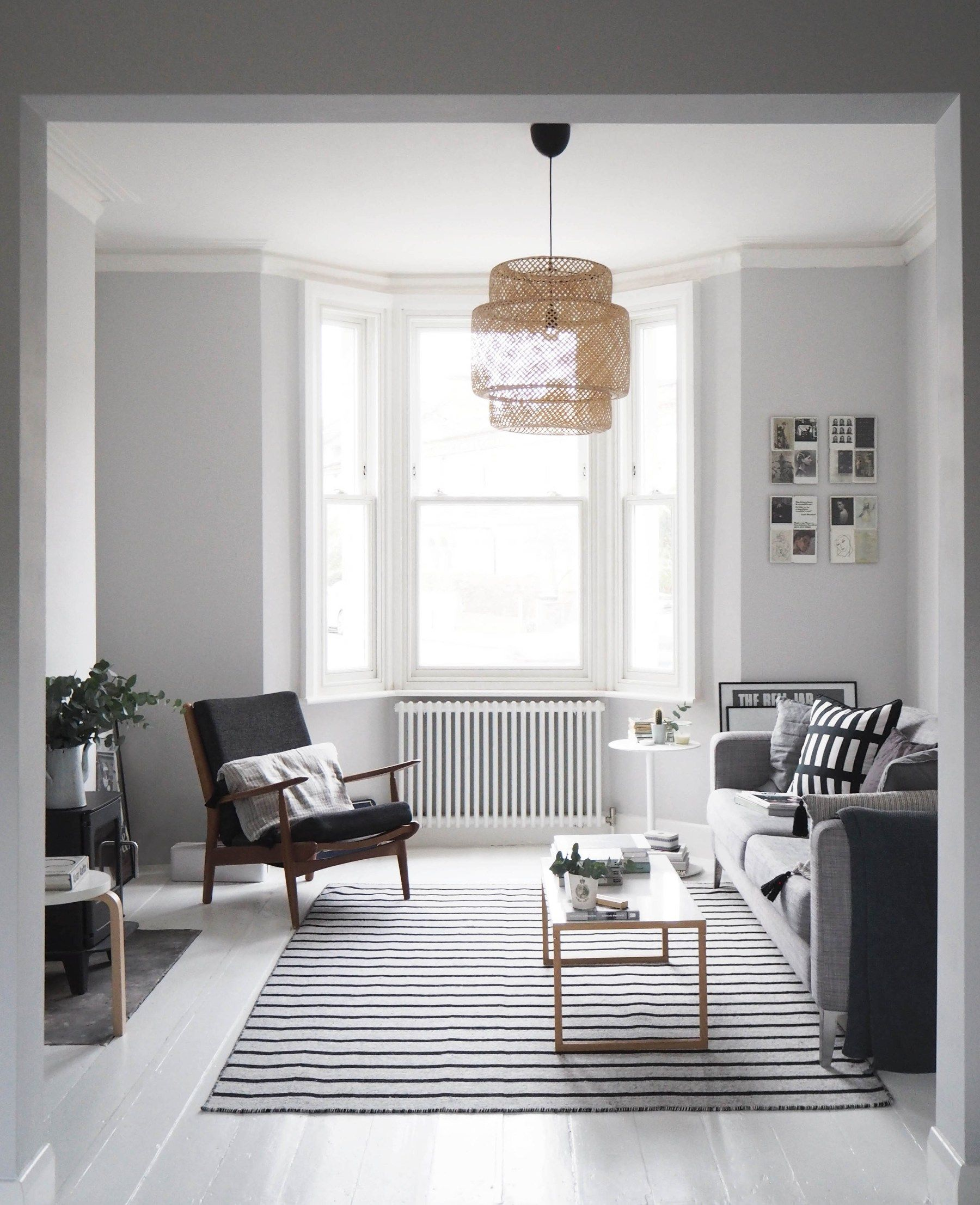 Contemporary Scandinavian Rugs From Woven Grey Walls Living Room