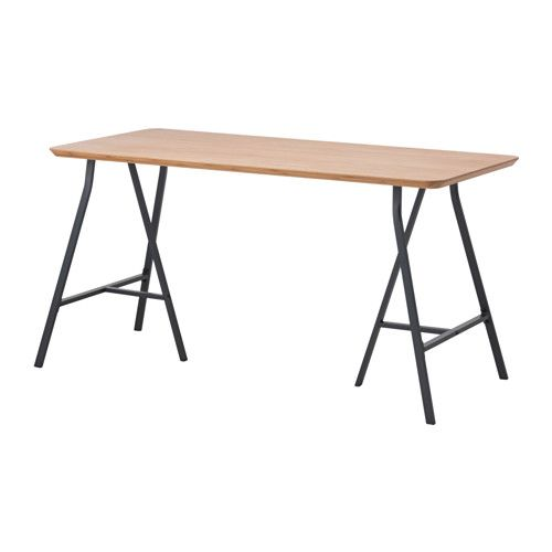 HILVER / LERBERG Table, bamboo, grey | @ home in sg | Pinterest ...