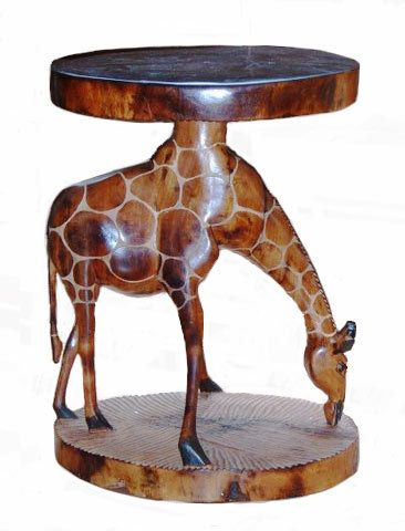Exceptionnel Giraffe Lamp Table / Stool