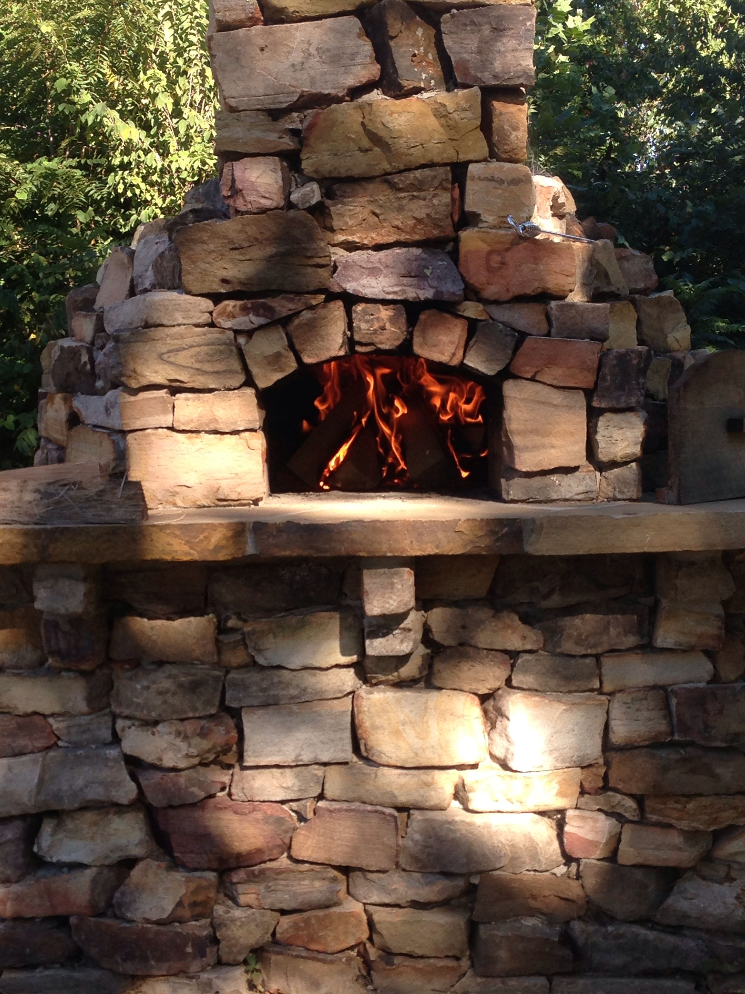 Natale Masonry Dry Stacked Stone Pizza Oven Built By Lord Brothers Masonry Llc