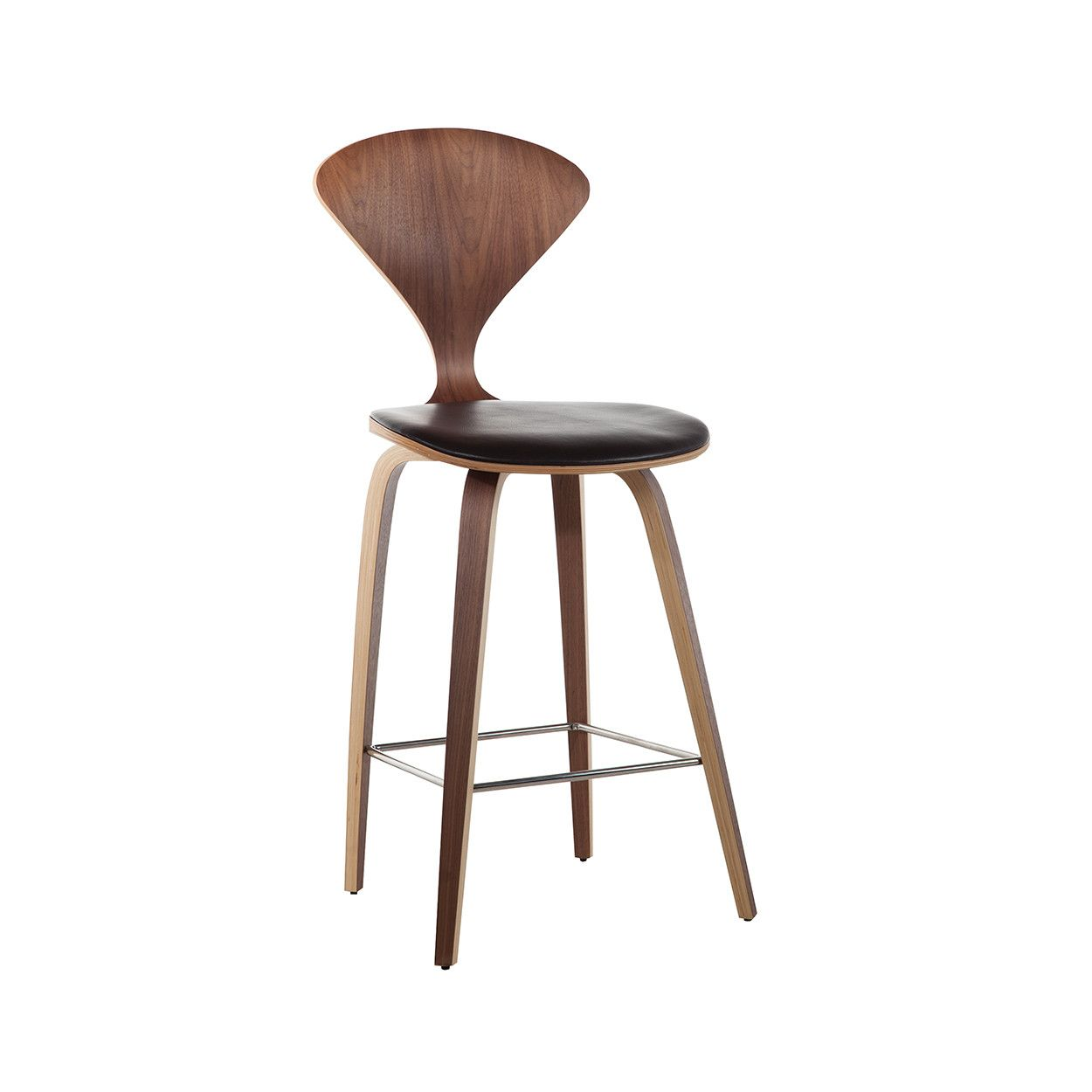 Mid Century Norman Counter Stool Aniline Leather