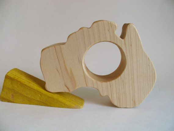 Wooden Australia Teether Organic Safe And By