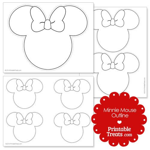 Printable minnie mouse outline style pinterest for Free printable minnie mouse bow template