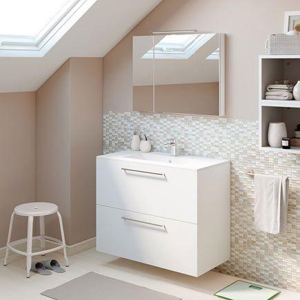 Mueble de lavabo aida ref 17923766 leroy merlin ba o for Lavabos sobre encimera leroy merlin