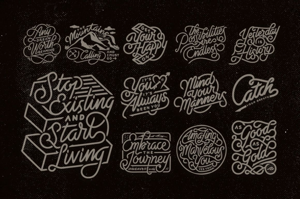 Scribble Drawing Quotes : Hand lettering quotes vector by mister doodle on creative