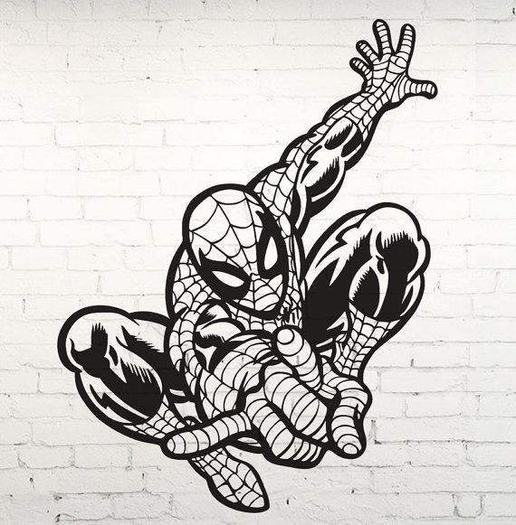 Spider Man Marvel Design Boys Bedroom Space Wall Stencil Spiderman Coloring Coloring Pages Cartoon Coloring Pages