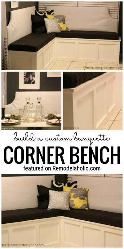 Build a Custom Banquette Corner Bench