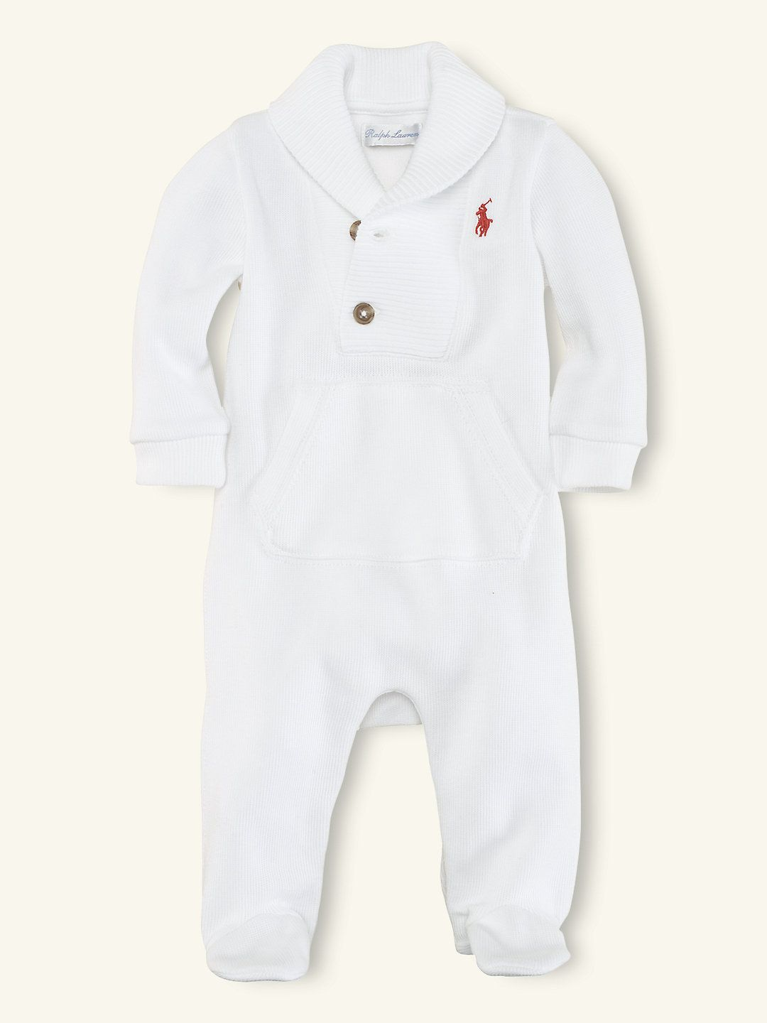 fafbbd01 Ribbed Shawl-Collar Coverall - One-Pieces Layette Boy (Newborn–9M ...
