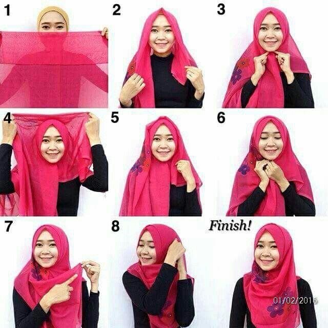 Tutorial Hijab Pashmina Segi Empat Blog Lif Co Id