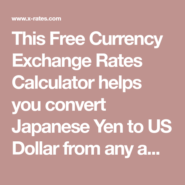 Currency Exchange Rates Calculator