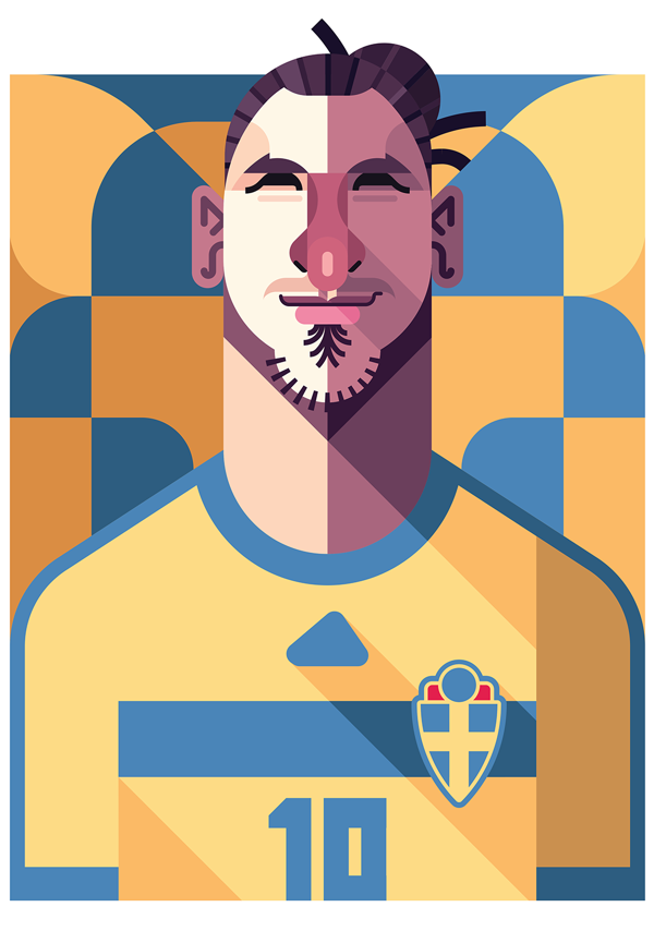 Famous Graphic Illustrators   ... poster illustration 15 Cool Illustrations of Famous Football Players