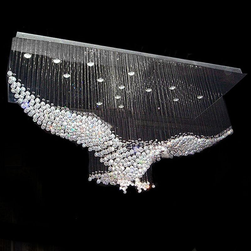 Crystal Eagle Contemporary Chandelier Contemporary