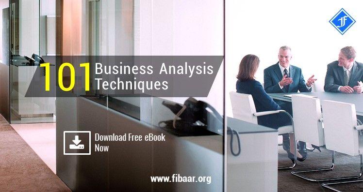 Free eBook 101 Business Analysis Techniques FIBAAR\u0027s Business