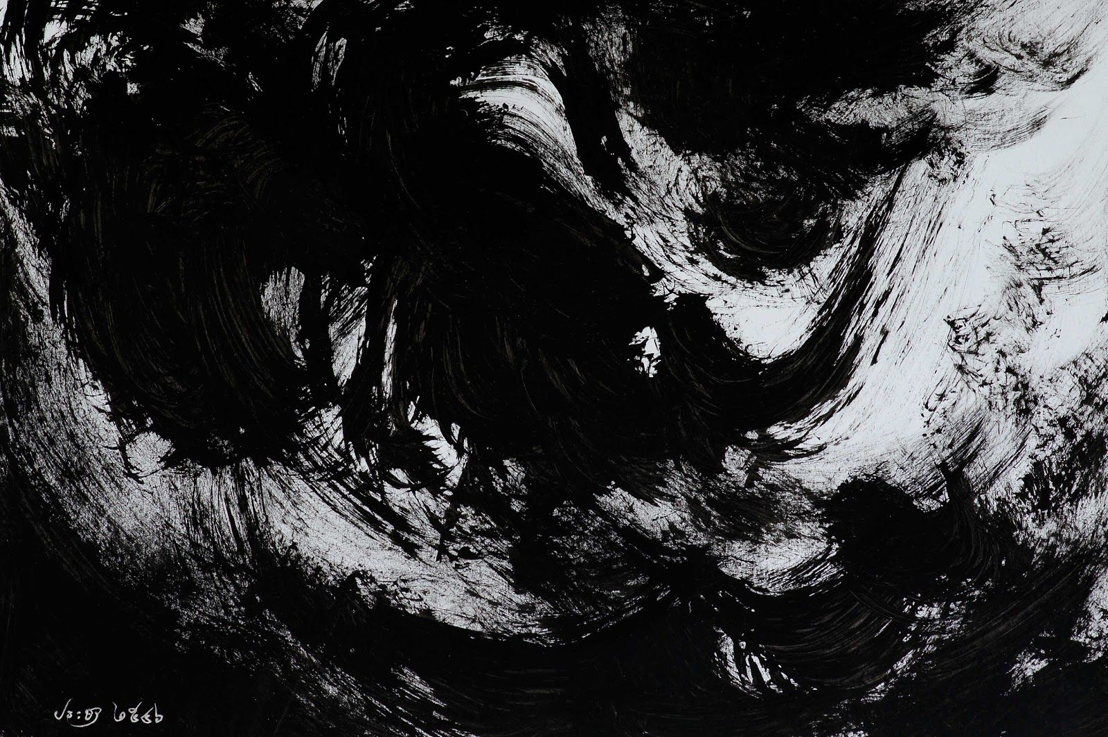 Abstract Art By Pracha: Clouds in the dark night 2 | Luna ...