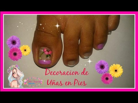 Decoraci n de u as flor sencilla flor facil para u as youtube mirian tocto pinterest - Decoracion facil de unas ...
