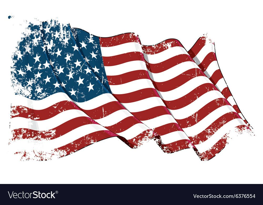Usa Flag Grunge Vector Image On Banderas Lugares Para Visitar Vector
