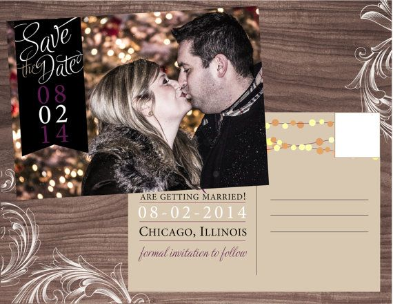 Twinkle Lights Postcard  Save the Date by PrettyThingsOnPaper, $48.00