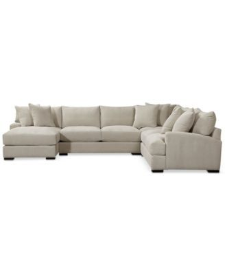 Terrific Rhyder 5 Pc Fabric Sectional Sofa With Chaise Created For Ocoug Best Dining Table And Chair Ideas Images Ocougorg