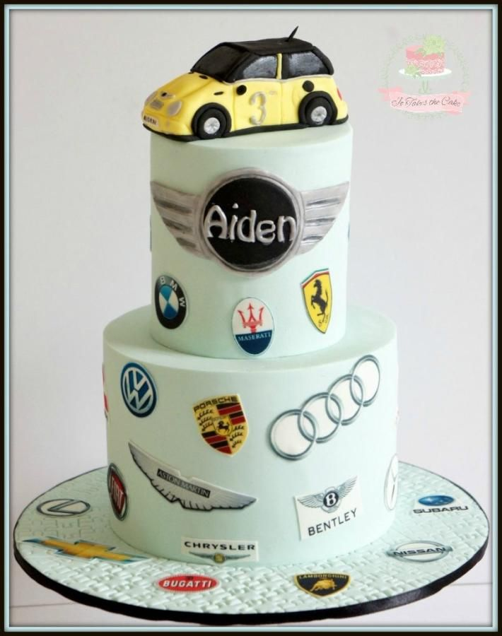 Car Logos By Jo Finlayson (Jo Takes The Cake) Autos Motiv Kuchen, Kuchen