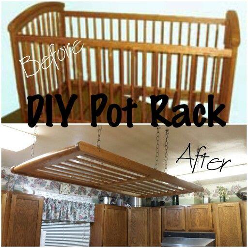 diy hanging pot rack diy house decor diy home decor hanging pots diy kitchen. Black Bedroom Furniture Sets. Home Design Ideas